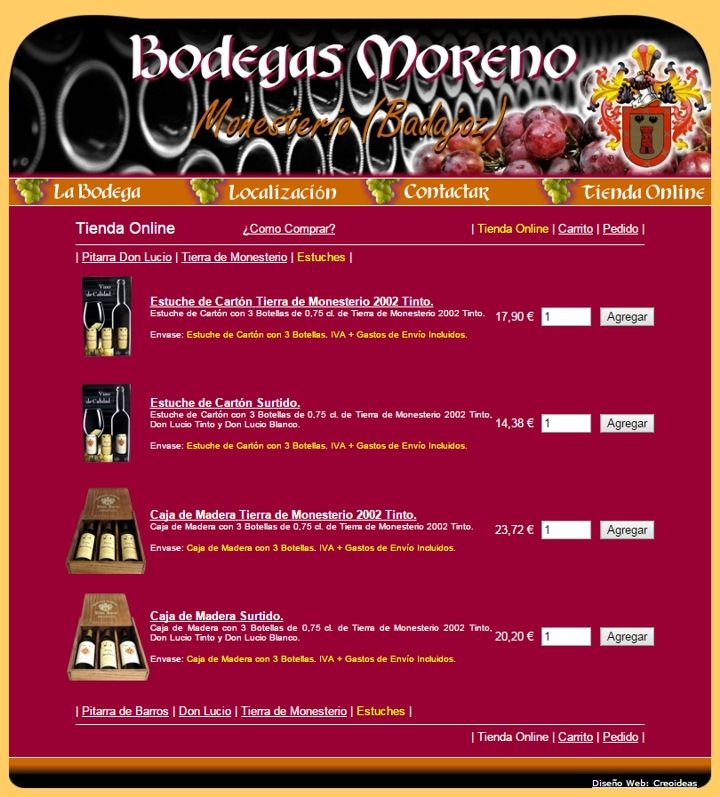 Bodegas Moreno Tienda Online de Vinos - Monesterio (Badajoz)