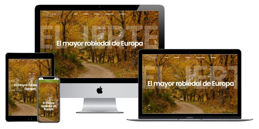 Casas del Castañar. El mayor robledal de Europa. Turismo Valle del Jerte. Extremadura.