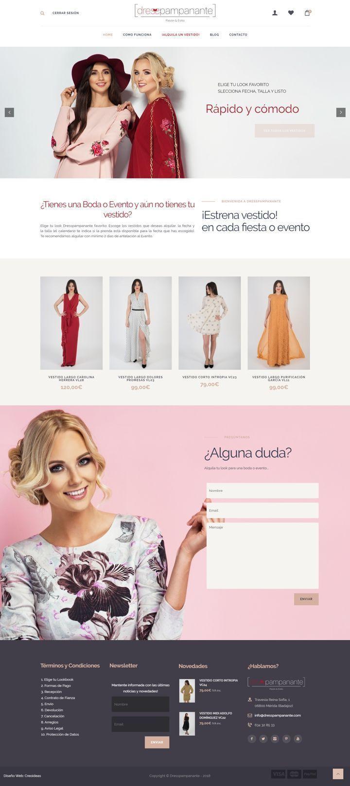 Dresspampanante. Tienda Online de Alquiler de vestidos para Bodas y Eventos