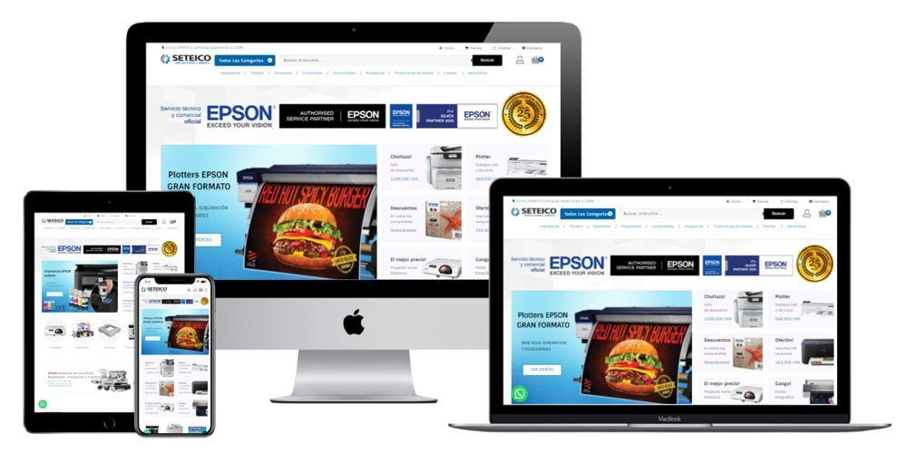 Seteico. Servicio Técnico Oficial EPSON. Venta de equipos. Impresoras, Plotters, Consumibles y Recambios.