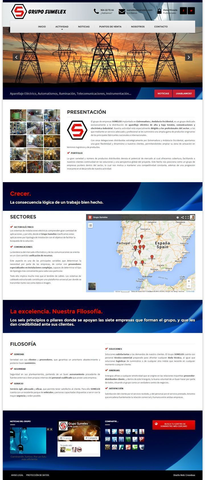 Grupo Sumelex Suministro de material eléctrico para Profesionales - Badajoz